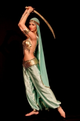 Mahtab with sword