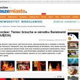 Nasze Miasto Wrocław 7.07.2013, relacja z pokazu Szczypta Orientu - więcej w zakłądce 'KURSY TAŃCA'